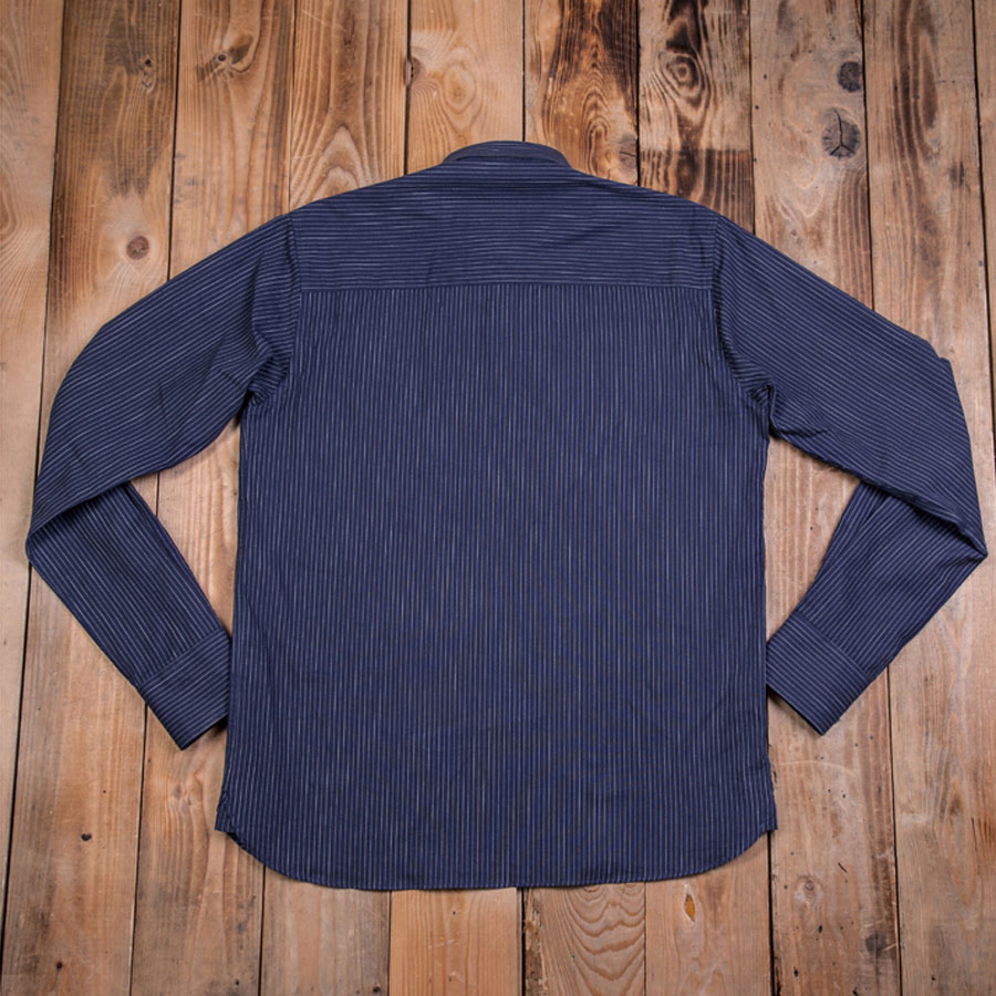 1908 Miner Shirt blue striped (Arbetsskjorta/Pike Brothers)