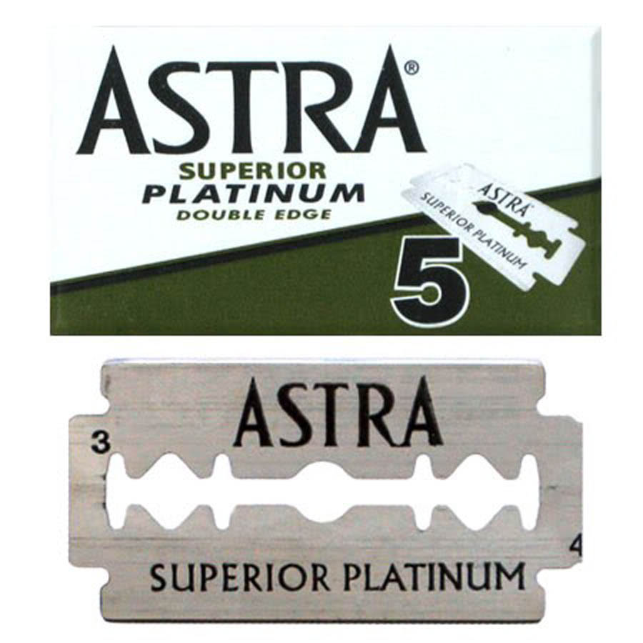 Astra Superior Platinum Double Edge Razor Blades 5-pack