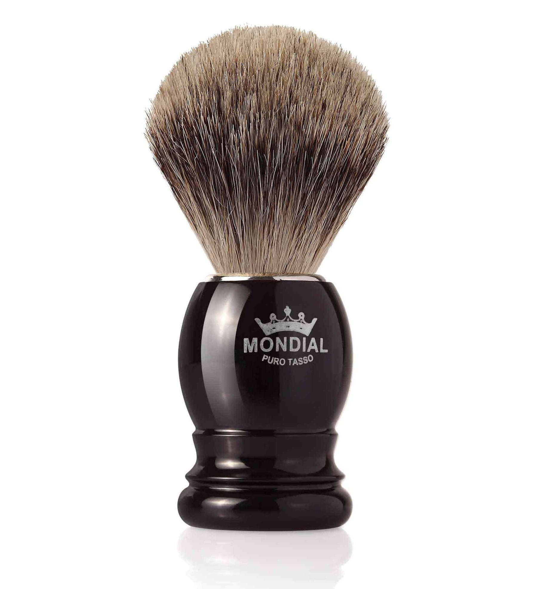 Mondial Basic Shaving Brush Fine Badger, black (rakborste)