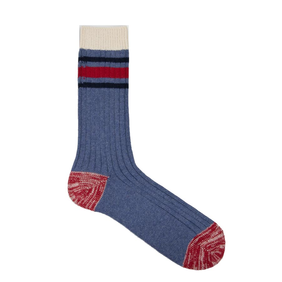 Nautical Turn Montauk Socks (strumpor i återvunnen bomull) 39-45