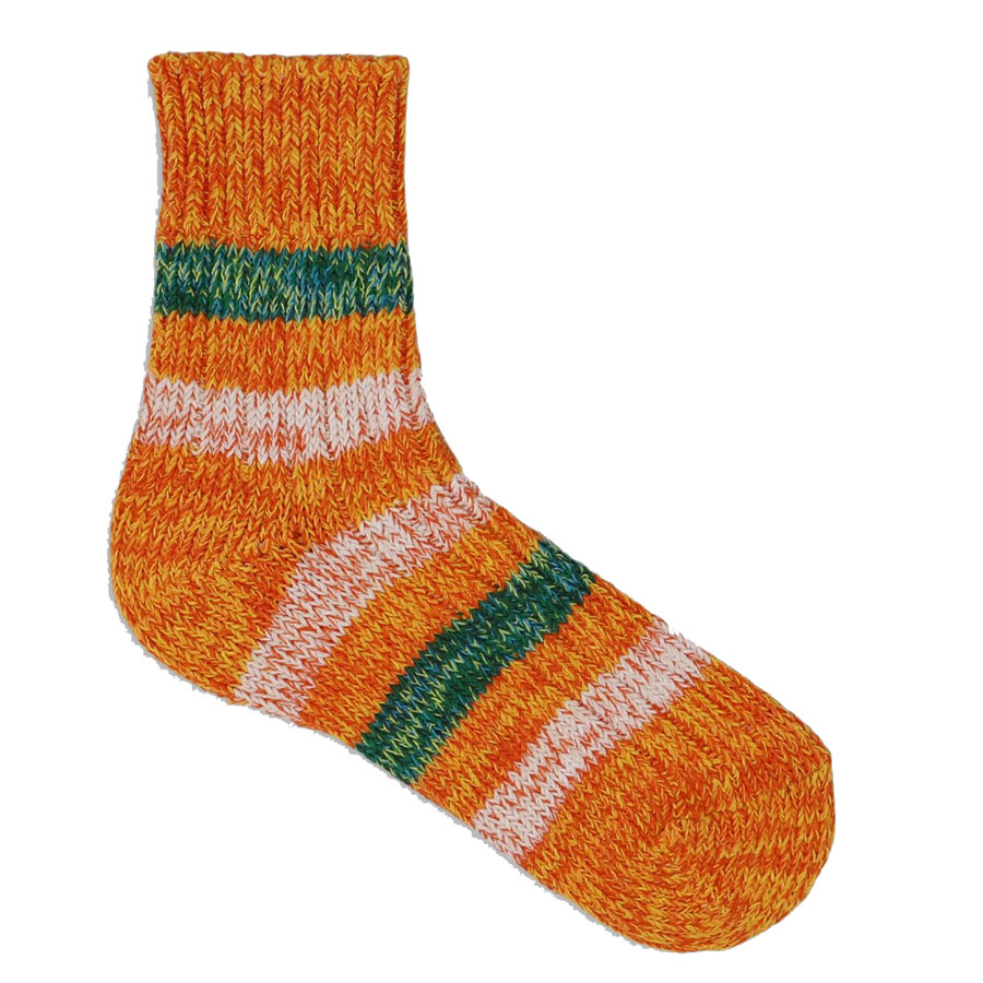 Island Collection Japanese Orange Socks 36-39