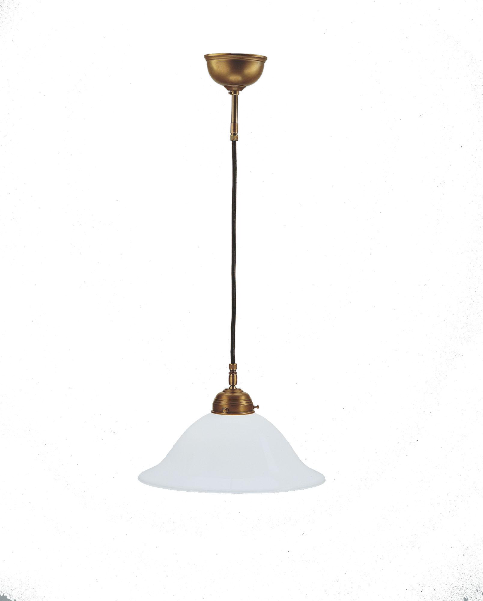 Frödingplafond 100 mässing med droppskärm i slipat klarglas