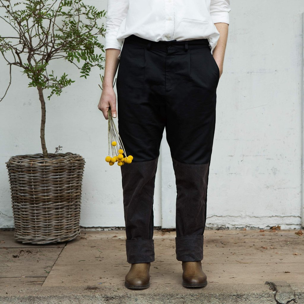 Daisy, Tailored work trouser, Jet black (Lilldal, arbetsbyxa)