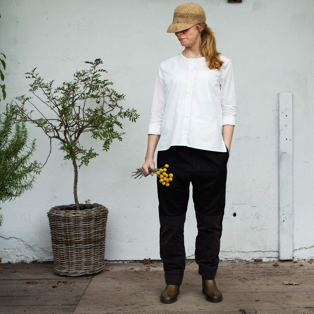 Daisy, Tailored work trouser, Jet black (arbetsbyxa)