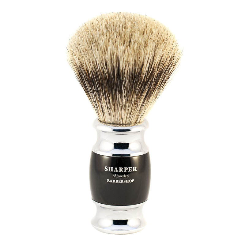 Rakborste Grävlinghår (Shaving Brush, Pure Badger)