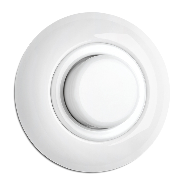 Dimmer LED vitt porslin med ring 5-85 Watt & 20-250 W/VA